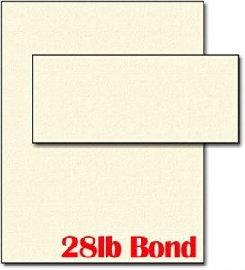 28lb Cream Linen Resume Paper