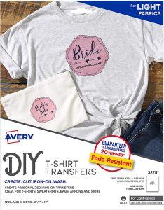 AVERY T-Shirt Transfer Sheets