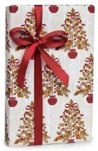 Gold Red Wrapping Paper
