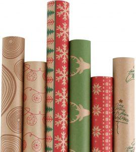 RUSPEPA Christmas Wrapping Paper