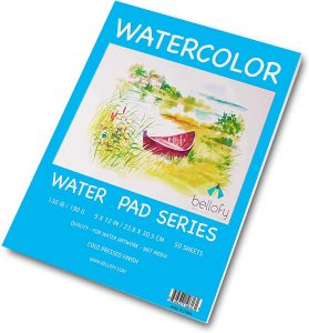 Bellofy 50 Sheet Watercolor Paper Pad