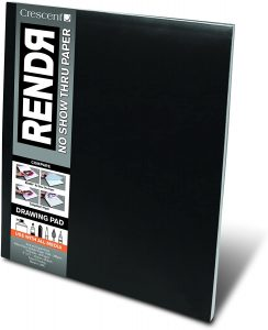 Crescent Cardboard Co RENDR No Show Thru Drawing Pad