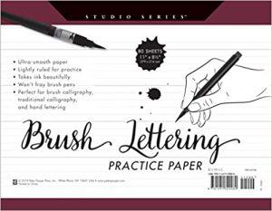 Studio Series Brush Lettering Practice Paper